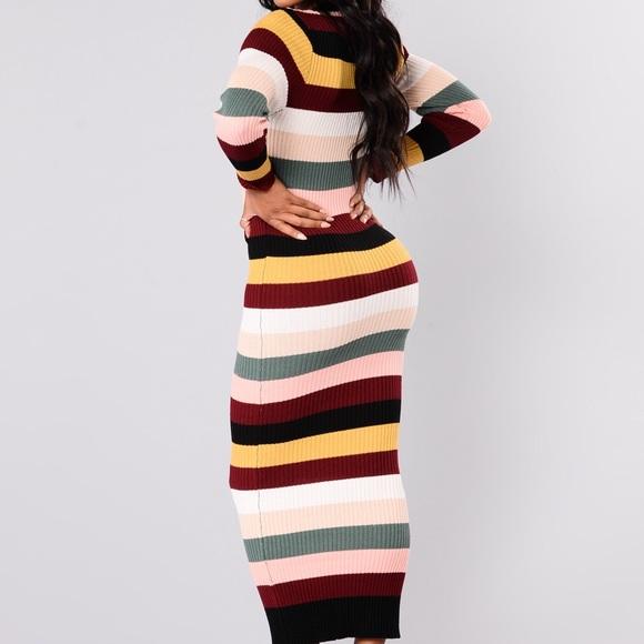 148b63b8920 Fashion nova striped sweater dress